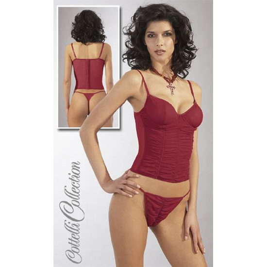 KOKKINO TOP ΜΕ STRING BY COTTELLI COLLECTION XL