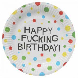 ΧΙΟΥΜΟΡΙΣΤΙΚΌ ΠΙΆΤΟ ΓΙΑ ΓΕΝΈΘΛΙΑ ''HAPPY FUCKIN BIRTHDAY''